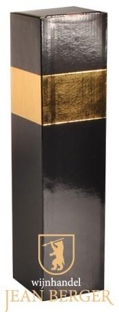 Sierdoos zwart/goud (1-fles)