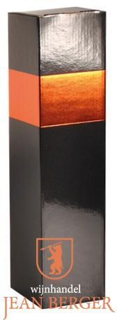Sierdoos zwart/oranje (1-fles)