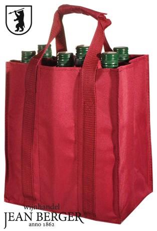 Katoenen flessen tas (6 flessen)
