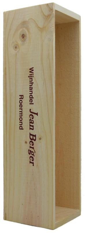 Houten kist  voor 1 magnum-fles Champagne (1,5 liter)