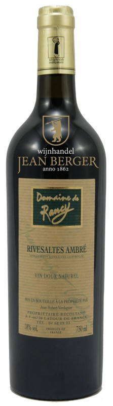Rivesaltes Ambré, Domaine de Rancy