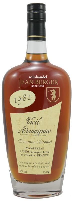 Vieil Armagnac Ténarèze, Millésime 1982, Domaine Chiroulet (0,7 liter)