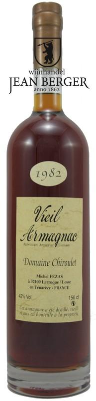 Vieil Armagnac Ténarèze, Millésime 1982, Domaine Chiroulet (1,5 liter)