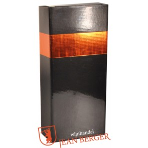 Sierdoos zwart/oranje (2-fles)